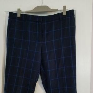 Ann Taylor navy blue pants with light blue stripe